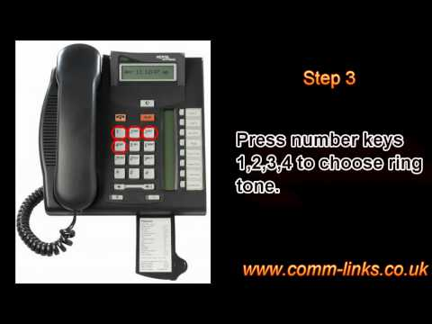 How to change ringtone on a nortel norstar T7208?