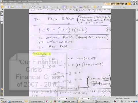 Excel Finance Class 45: Interest Rates: Real, Nominal, Inflation and the Fisher Effect