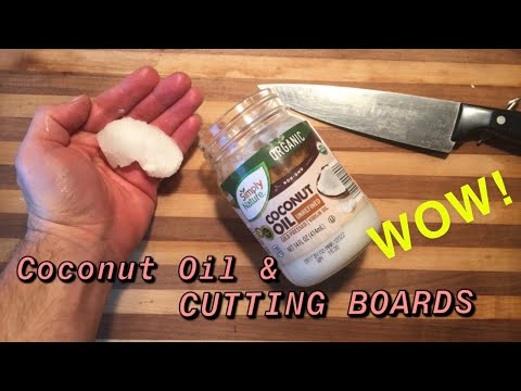 Coconut oil for a cutting board