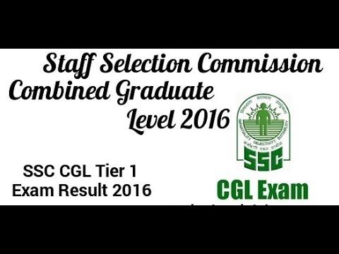 ssc cgl tier 1 result, 2016