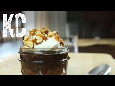 Chocolate Budino Recipe | With Banana Whipped Cream and Candied Peanuts