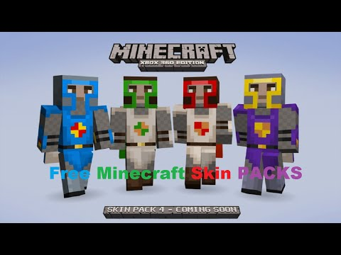 Minecraft Xbox 360 - ALL SKIN PACKS AND TEXTURE PACKS FREE DOWNLOAD