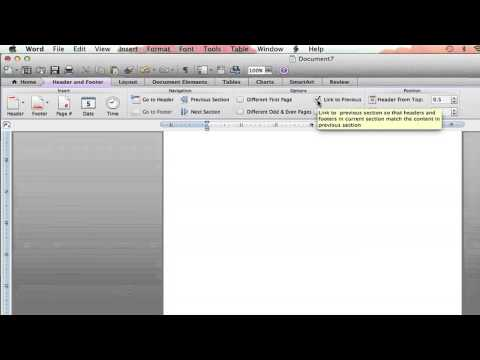 How to Turn Off Same as Previous in Footers in Microsoft Word : Microsoft Word Tutorials