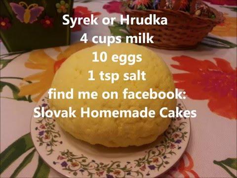 Easter Syrek or Hrudka (Velkonocny syrek alebo hrudka)