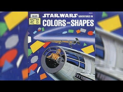 1984 Star Wars Adventures in Colors and Shapes Read-Along Story Book and Cassette
