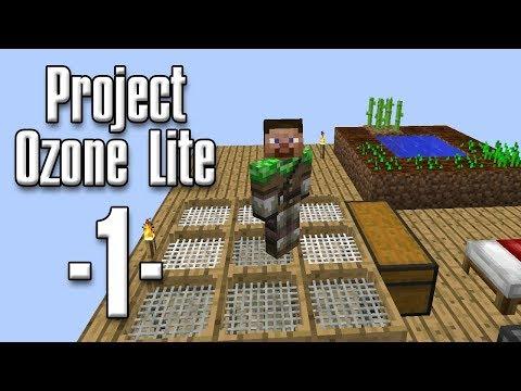 Minecraft - Project Ozone Lite #01 - Nej, zombie, NEEEJ (HD)