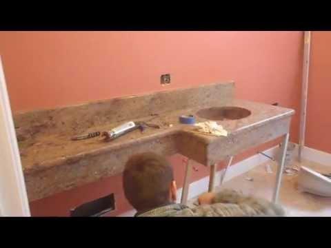 The incredible floating granite counter top( short version( Un lavoro particolare)