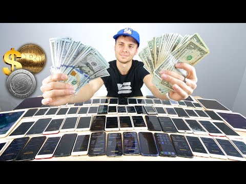 Cryptocurrency Mining on 65+ iPhones! How Much $?