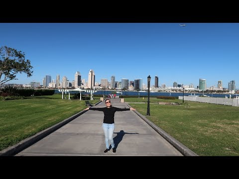 Vlog#1 San Diego to Coronado ferry     شاهد سفينة حربية ضخمة في سان دييغو