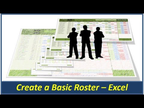 Excel Roster - Create a Basic Roster in Microsoft Excel
