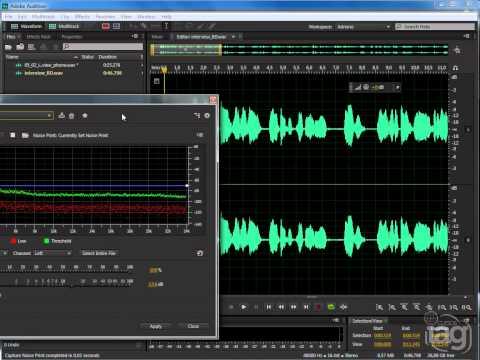 Noise Reduction com Audition CS6
