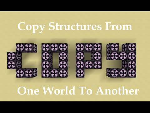 Minecraft 1.10 How To Copy Structures From One World To Another