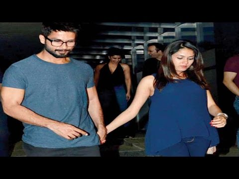 Shahid Kapoor takes care of pregnant wife Mira Rajput   VIDEO