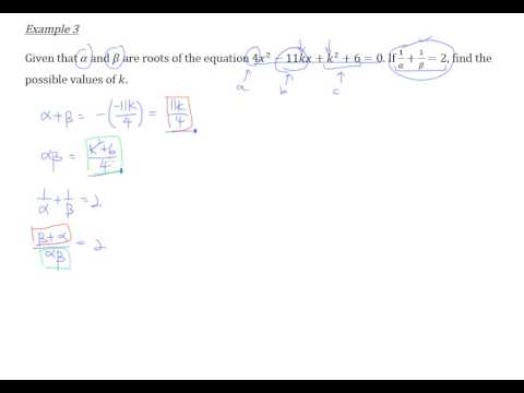 Sum and Product of Roots - Example 3