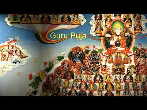 Guru Puja with Tibetan and English Subtittled Text with Geshe Ngawang Gedun
