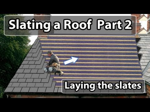 How to LAY a Slate Roof  PART 2 - How to put slates on a roof