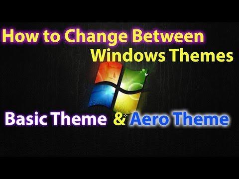 How to Change to Windows Theme to Windows 7 Basic