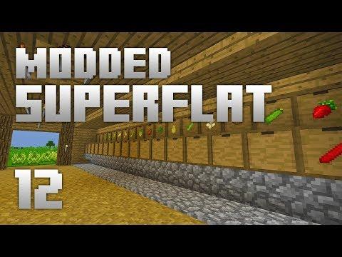 ►Modded Superflat - BARN STORAGE!   Ep. 12   Modded Minecraft Survival◄