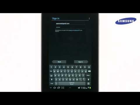 Samsung Galaxy Tab 2 - Setting Up Your Google Account
