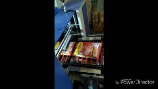 P.L.C automatic toast packing machine.(Lg machinery product)