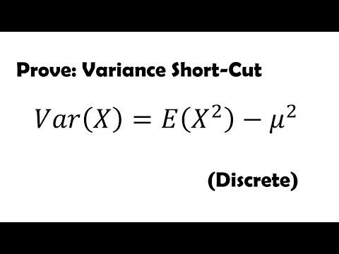 Prove: Variance Shortcut Method for Discrete Random Variable