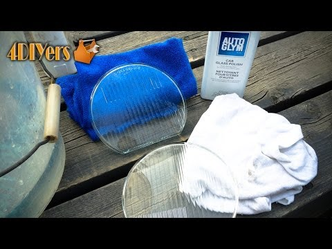 DIY: BMW Glass Headlight Diffuser Lens Polishing