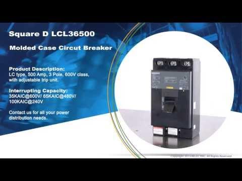 Square D LCL36500 Molded Case Circuit Breaker