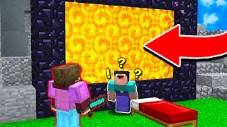 SENDING NOOBS TO A NEW DIMENSION! (Minecraft BED WARS TROLLING)