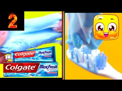 2 Ways To Make Slime With Toothpaste!