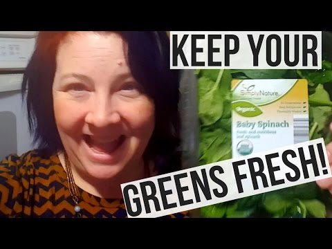 How To Keep Greens Fresh For Longer !! Life Hack