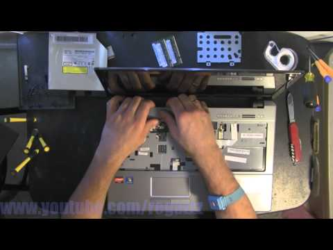 ACER ASPIRE 5534 take apart, disassemble, how to open, video disassembly