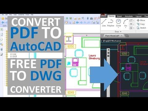 Convert PDF to AutoCAD - Free PDF to DWG converter