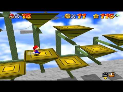 Super Mario 64 Walkthrough - Course 15 - Rainbow Ride