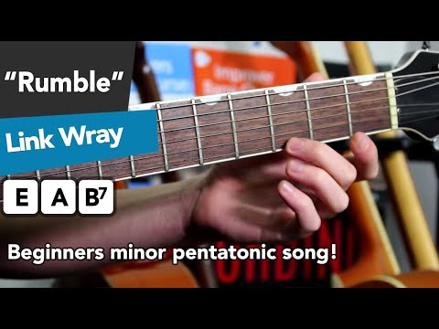 Easy Electric Guitar Song - Rumble by Link Wray (Jimmy Page's favourite!)