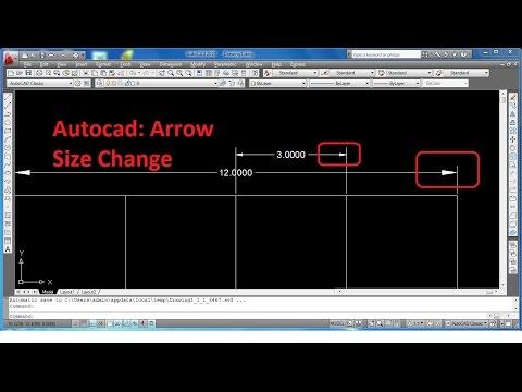 [Hindi - हिंदी] How to Change Arrow Size in Autocad