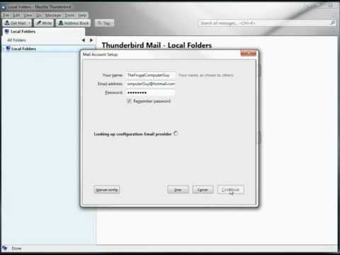 Thunderbird (Free e-mail client) using Hotmail and Yahoo