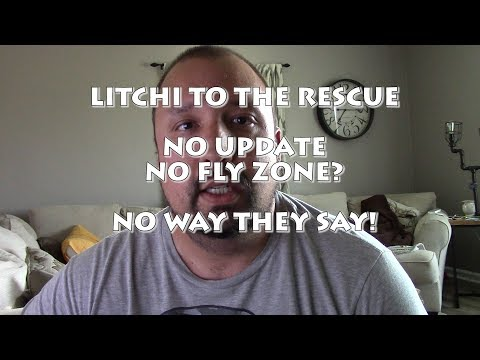 NO UPDATE??NO FLY ZONE?? NO PROBLEM..LITCHI TO THE RESCUE!!