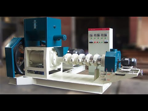 fish feed making machine.making floating fish feed pellets on water