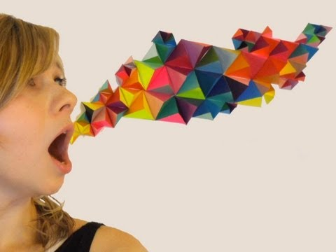 DIY 3D Geometric Paper Sculpture