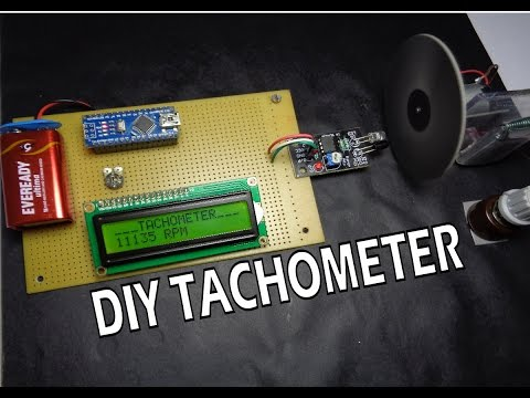 How to make Arduino based Digital Tachometer │RPM Counter simple DIY tutorial