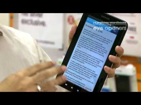 Samsung Galaxy Tab - How to use Task Manager and Multi tasking -The Carphone Warehouse - eye openers