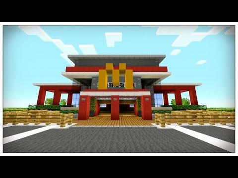 Minecraft: How To Make A McDonald's in Minecraft | Mcdonalds Restraunt