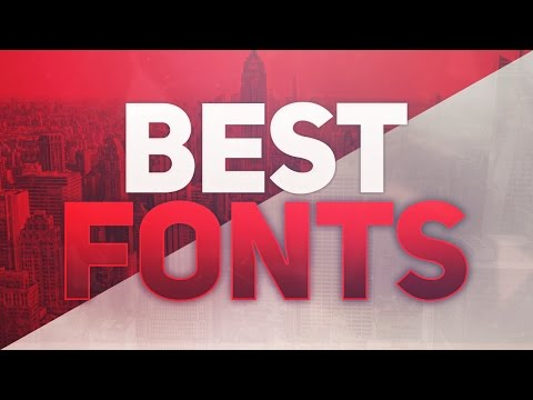 BEST FONTS FOR GFX DESIGNERS / GRAPHIC DESIGN /DESIGNING ! (100+ FREE FONTS)