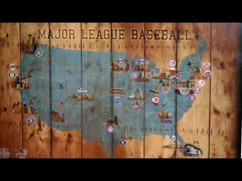 Baseball Stadium Map All National and American League Teams