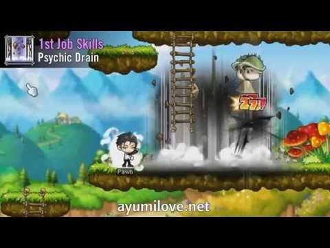 Ayumilove MapleStory Kinesis 1st, 2nd, 3rd, 4th Job Skill & Hyper Skills