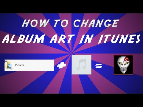 how to change album art in itunes