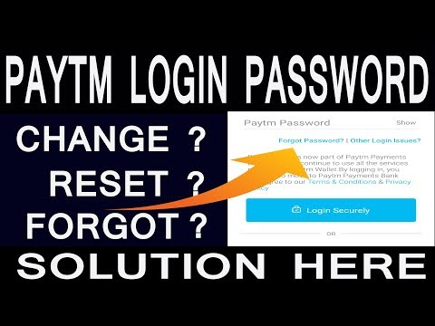 How to Reset Paytm Login Password?