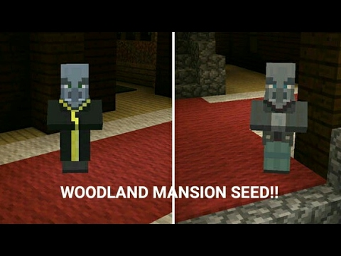 Minecraft PE 1.1 | NEW WOODLAND MANSION SEED IN MCPE!! (Pocket Edition)