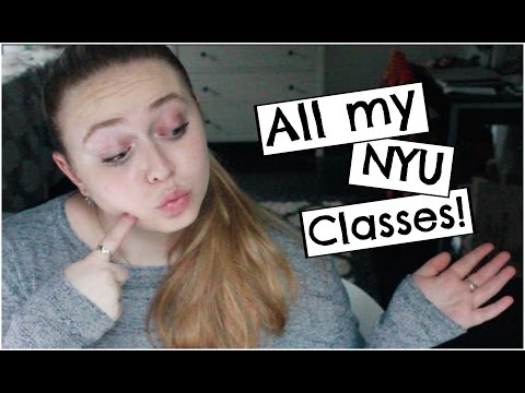 All About NYU #5 | All of the Classes I've Taken!