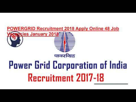 POWERGRID Recruitment 2018 Apply Online January 2018